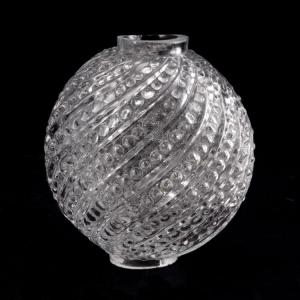 Infilaggio a sfera in vetro cristallo Ø7 cm con foro Ø18 mm