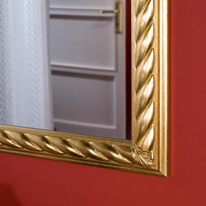 Specchiera rettangolare - foglia oro