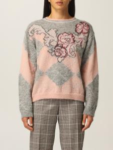 Maglione di lana con max intarsio Alberta Ferretti
