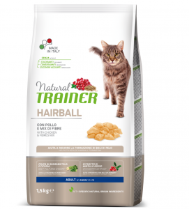 Trainer Natural Cat - Hairball - 1.5 kg x 2 sacchi