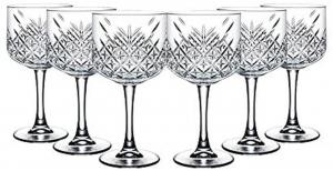 Set 6 Calici in vetro trasparente per Gin & Tonic Timeless CL 55