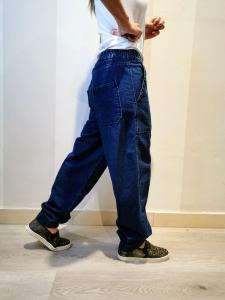 Jeans baggy con elastico