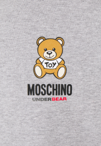 SHOPPING ON LINE MOSCHINO FELPA CROPPED IN COTONE CON TEDDY UNDERWEAR NEW COLLECTION FALL/WINTER 2022