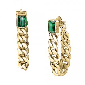 Chiara Ferragni Orecchini Chain, Groumette - Green Crystal