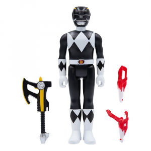 *PREORDER* Power Rangers ReAction: BLACK RANGER (Mighty Morphin) by Super7