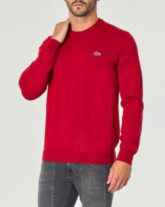 Maglia bordeaux girocollo in misto lana
