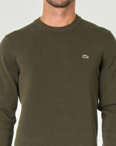 Maglia verde militare girocollo in puro cotone
