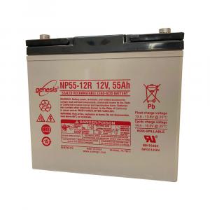 Batteria al GEL NP55-12R ENERSYS per lavapavimenti 12V - 55Ah 20/h 47Ah 5/h