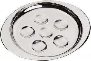 Piatto lumache in acciaio inox per 6 pezzi