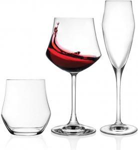 Set 18 bicchieri in vetro cristallino EGO