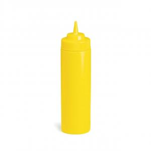 Dosatore Squeeze in plastica giallo per olio aceto ml 350