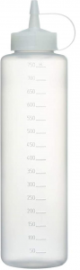 Dosatore graduato per salse in plastica 750 ml