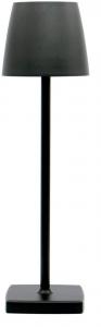 Lampada a Led da tavolo ricaricabile in alluminio colore nero verniciato