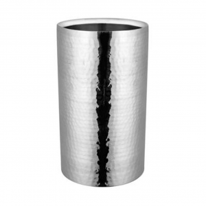 Portabottiglie glacette in acciaio inox martellato