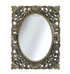 Espejo con marco en pan de oro