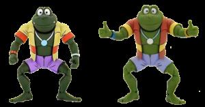 Teenage Mutant Ninja Turtles: Animated Series NAPOLEON & ATILLA FROG by Neca