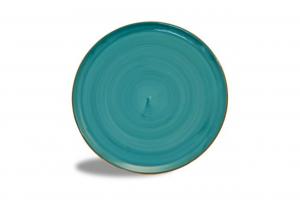 Piatto da pizza in porcellana colore Tiffany