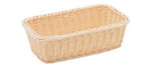 Cestino rettangolare in vimini plastificato