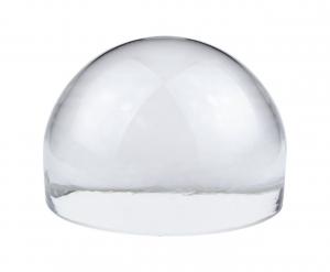 Fermacarte mezza sfera in vetro