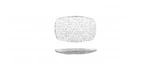 Vassoio rettangolare in vetro Cubik