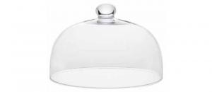 Campana cupola in vetro trasparente con pomello
