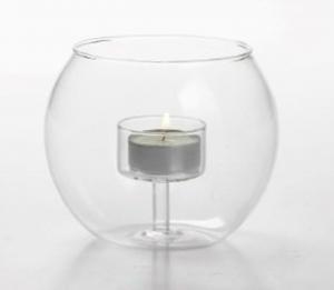 Porta candela tea light in vetro