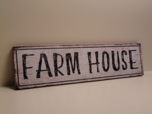 Pannello Decorativo bianco FARM HOUSE in legno stile Shabby Chic