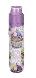 Ombrello Donna Mini Viola con stampa Cupcake