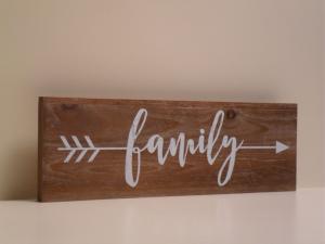 Pannello Decorativo in legno FAMILY stile Shabby Chic
