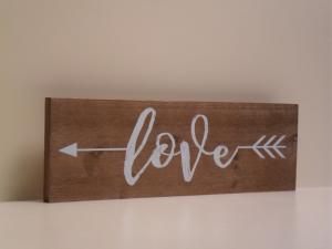 Pannello Decorativo in legno LOVE stile Shabby Chic