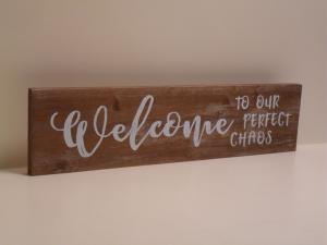 Pannello Decorativo in legno WELCOME stile Shabby Chic