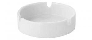 Posacenere in porcellana bianca Rotondo con 3 punti appoggio sigaretta 6 pezzi