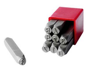 Punzoni a mano destri a filo continuo mm 4 - Serie Numeri 0-9 - Seb 2890.4