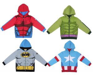 Felpa spiderman batman capitan america hulk da 4 a 12 anni Autunno Inverno