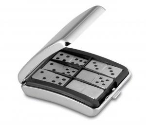Domino gioco da tavolo in silver plated