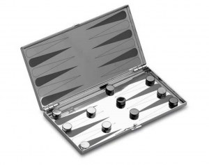 Backgammon in silver plated
