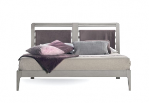 Armazón de cama doble con cabecero tapizado - Colección Stars