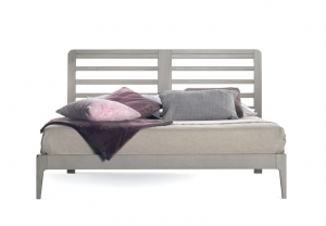 Armazón de cama doble con cabecera perforada - Colección Stars