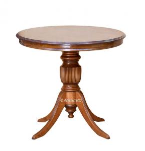 Mesa de centro redonda de 80 cm con patas talladas