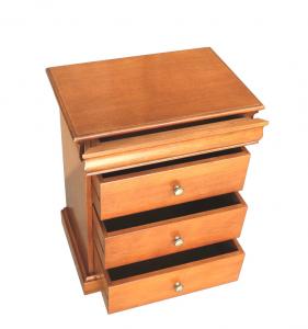 Klassischer Nachttisch 4 Schubladen Louis Philippe