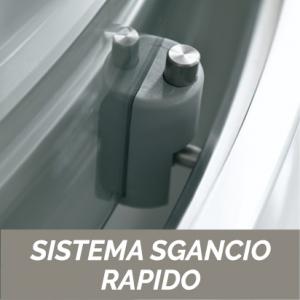 1 LATO CRISTALLO 6 MM PER BOX ANGOLO CEE ART                           cm 87-89  / Apertura cm 49