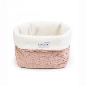 Beauty case Cestino portaoggetti per il bagno Bamboom Honey NudePink