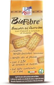 BIOFIBRE+ BISCOTTI FARRO FIBRE/CRUSCA AVENA 250GR