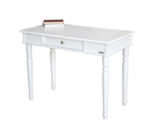 Mesa de despacho blanca en madera artesanado italiano Essenza