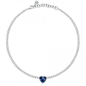 Chiara Ferragni Collana Diamond Heart - Blue Heart