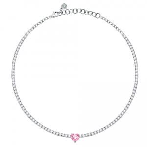 Chiara Ferragni Collana Diamond Heart - Pink Heart