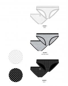 6 Slip da donna in fantasia in cotone elasticizzato UMBRO