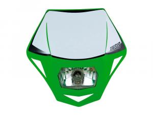 R-MASKVE00006 MASCHERINA PORTA FARO UNIVERSALE GENESIS VERDE BIANCO MOTOCICLI OFF ROAD-2
