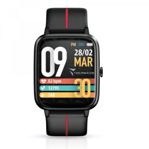 TECHMADE Smartwatch move - black red