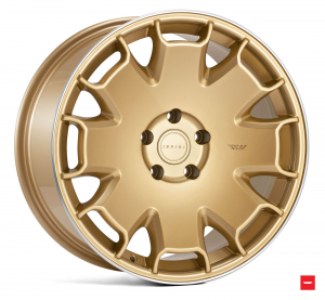 Cerchi in lega  Ispiri  CSR2  18''  Width 8,5   5x100  ET 35  CB 57.1    Vintage Gold Polished Lip